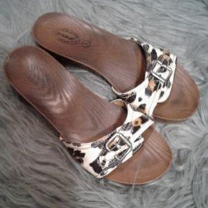 Leopard dr. Scholl's sandals